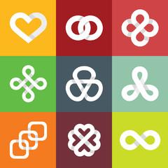 Design vector logo templates - infinity symbols