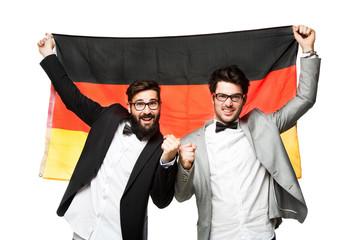 Männer mit Deutschlandfahne