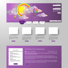Website Template with Colorful Abstract Digital Design Summer St