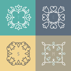 vector outline frame set