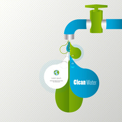 Eco water tap infographics