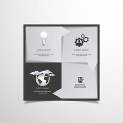 Infographics options design elements.