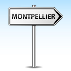 Panneau direction Montpellier
