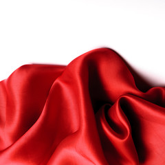 Smooth elegant red silk