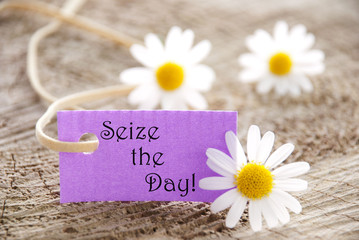 Label with Seize the Day