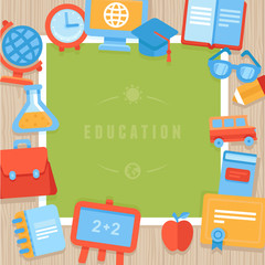 Vector education greeting card
