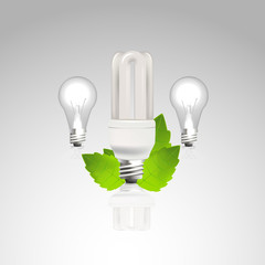 Photorealistic Vector / energy efficiency light Bulb