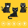VEctor cat icon in flat style