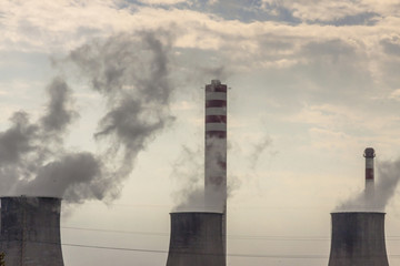 Thermal power station on coal - Poland