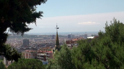 Types of Barcelona from the Park Guell.