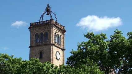 Historic Bell Tower of the Barcelona University.