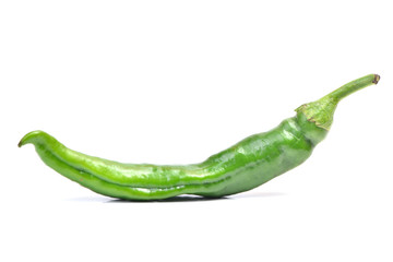 Green hot pepper chili