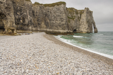 Etretat, France Cote d'Albatre (Alabaster Coast) is part of the