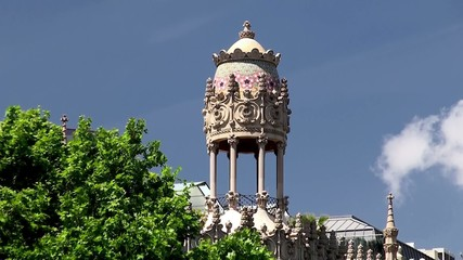 "Barcelona. ""Fabergé egg"" tower of the Casa Lleo Morero,"