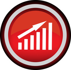 Круглый векторный знак с изображением графика