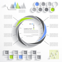 Template for your presentation, flat design, business infographi