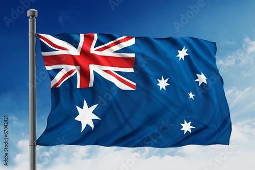 In de dag Oceanië Australian flag
