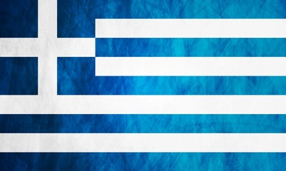 Greek grunge flag