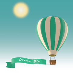 Hot Air Balloon Quote Background