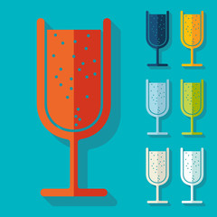 Flat design: cocktail