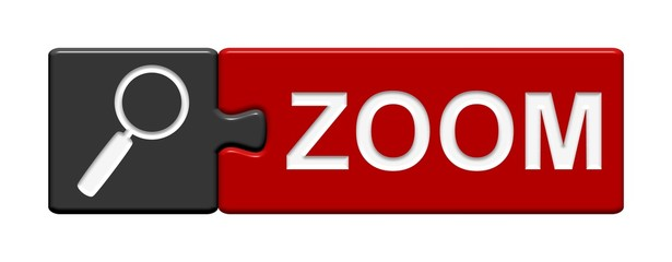 Puzzle-Button schwarz rot: Zoom