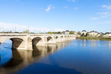 roman bridge in Saumur, France