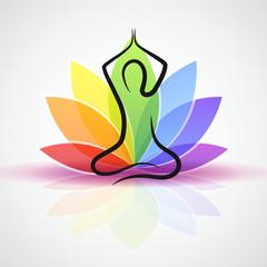 meditation bunte blume