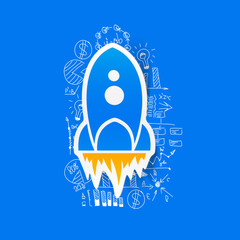 Drawing business formulas: rocket