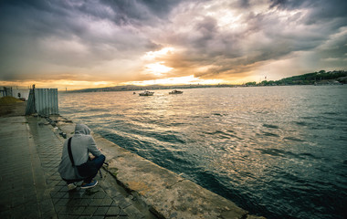 Photographer at Bosphorus, Istanbul