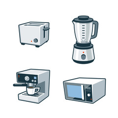 Home Appliances 3 - Toaster, Blender, Coffee maker, Microwave Ov