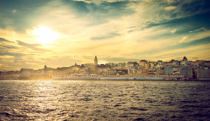 Beyoglu Istanbul part at sunset