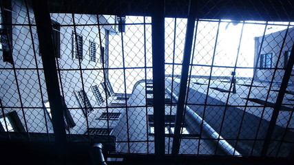 HD - Prison. Look through the security bars