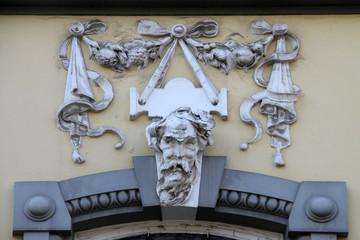Detail eines Hauses in Hameln