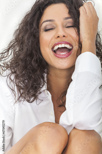 canvas print picture Sexy Sensual Laughing Happy Woman in Ecstacy