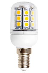 Energy-saving LED lamp close-up