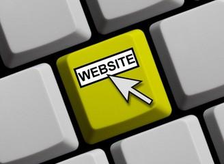 Tastatur gelb: Website online