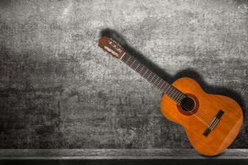 chitarra acustica in fondo grunge