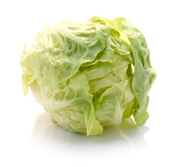 Tasty Chinese cabbage isolated on white background
