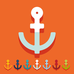 Flat design: anchor