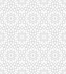 Black and white geometric circle seamless pattern