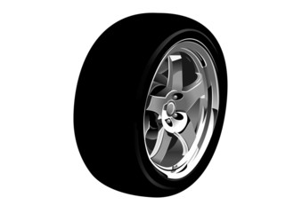 photo-realistic vector illustration of car wheel
