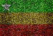 Burma Flag color grass texture background