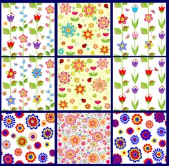 Funny abstract floral wallpapers