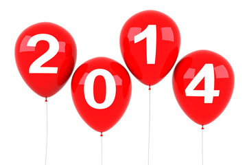 New Year 2014 Balloons