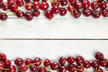 Cherries On White Boards