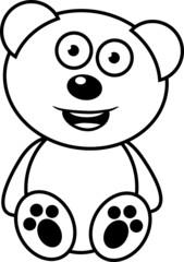Teddybär lachen fröhlich