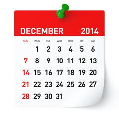 December 2014 - Calendar