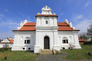 White Church with red roof