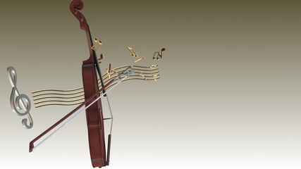 violin music notes background