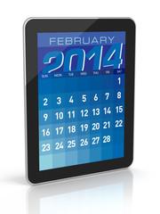 February 2014 - Tablet Calendar